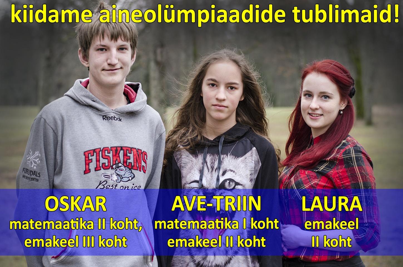 kiitmine aineolümpiaadid 3 õpilastFB